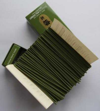 Morning Star Green Tea Incense   Box of 200 Sticks & Holder by Nippon Kodo