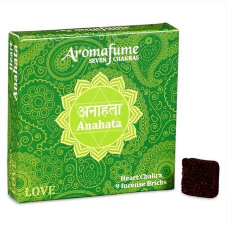 Aromafume Incense Bricks   4th Chakra - Anahata (Heart Chakra)   9 brick pack