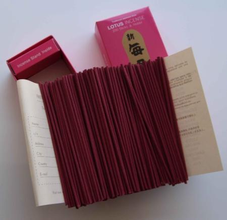 Morning Star Lotus Incense | Box of 200 Sticks & Holder by Nippon Kodo
