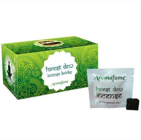Aromafume Incense Bricks   Forest Dew fragrance   20 brick pack