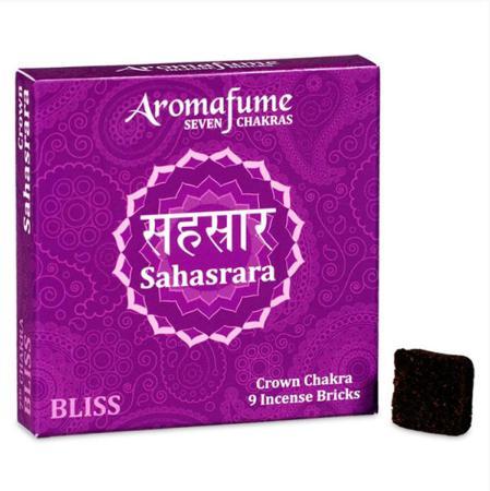 Aromafume Incense Bricks   7th Chakra -Sahasrara (Crown Chakra)   9 brick pack