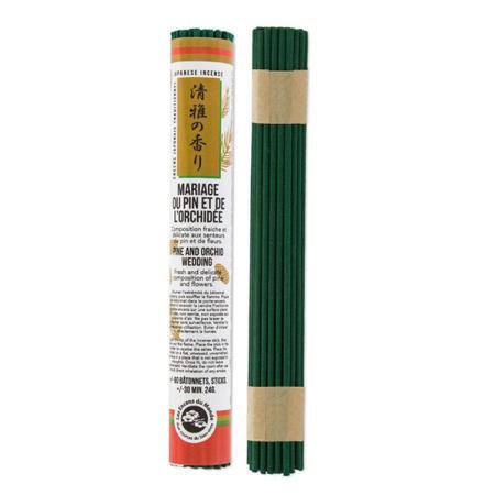 Japanese Incense Sticks | Les Encens du Monde | Pine & Orchid Wedding | 35 Short Sticks