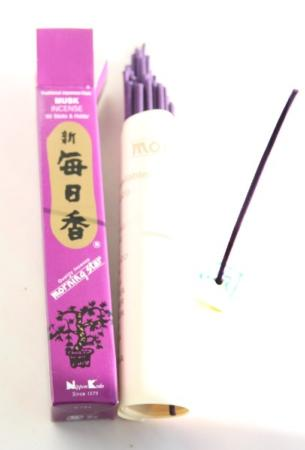 Morning Star Musk Incense | Box of 50 sticks & holder by Nippon Kodo