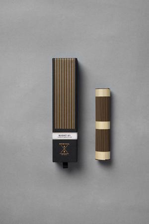 Fine Japanese Incense by Menuha | Night 01 | 125 Stick Refill Box
