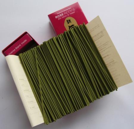 Morning Star Rose Incense | Box of 200 sticks & holder by Nippon Kodo