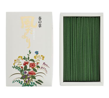Japanese Incense Sticks | Nippon Kodo | Kazedayori Spring (Bulgarian Rose) | 360 Boxed | Low Smoke