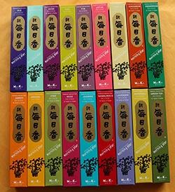 All varieties of Nippon Kodo's Morning Star Incense in 50 Stick packs