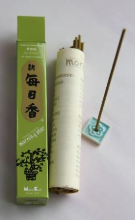 Morning Star Pine Incense | Box of 50 sticks & holder by Nippon Kodo