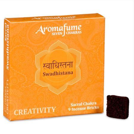 Aromafume Incense Bricks   2nd Chakra - Swadisthana (Sacral Chakra)   9 brick pack