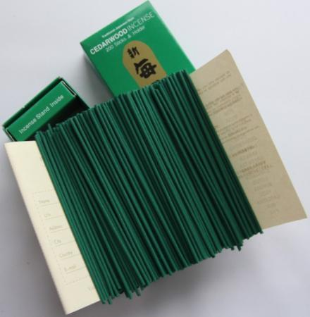 Morning Star Cedarwood Incense | Box of 200 Sticks & Holder by Nippon Kodo