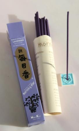 Morning Star Lavender Incense | Box of 50 Sticks & Holder by Nippon Kodo