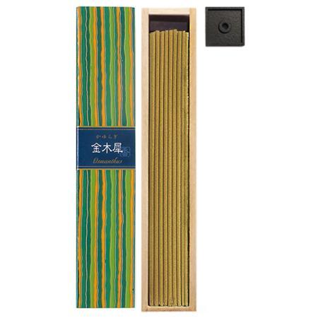 Osmanthus fragrance Japanese Incense   Kayuragi by Nippon Kodo   Box of 40 Sticks & holder