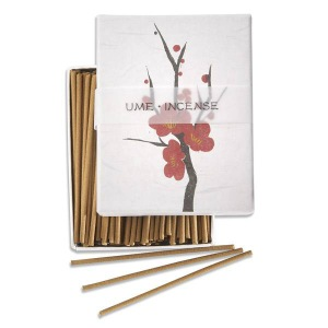 Japanese Incense | Hanga - Plum | 90 Stick Art box by Kousaido