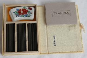 Japanese Incense Sticks | Nippon Kodo | Kyara Kongo (Aloeswood) | 60 Short Sticks boxed & bound