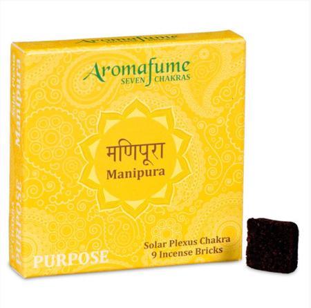 Aromafume Incense Bricks   3rd Chakra - Manipura (Naval Chakra)   9 brick pack