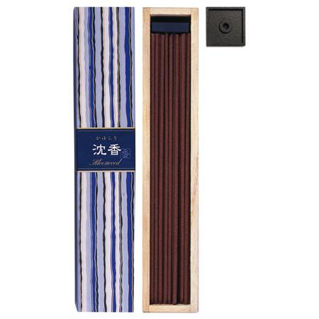 Aloeswood fragrance Japanese Incense | Kayuragi by Nippon Kodo | Box of 40 Sticks & Holder