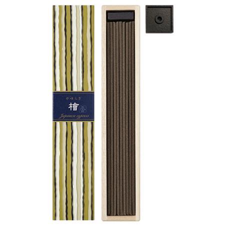 Japanese Cypress fragrance Incense | Kayuragi by Nippon Kodo | Box of 40 Sticks & holder