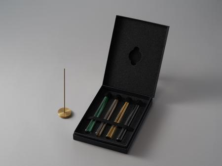 Fine Japanese Incense by Menuha | 4 Fragrance Collection (48 Sticks) with Brass Holder