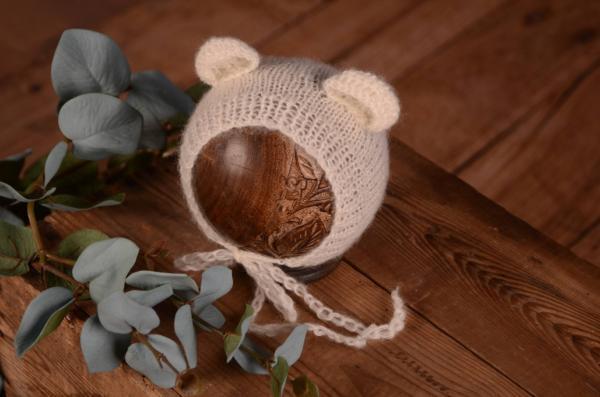 Bonnet oreilles blanc écru