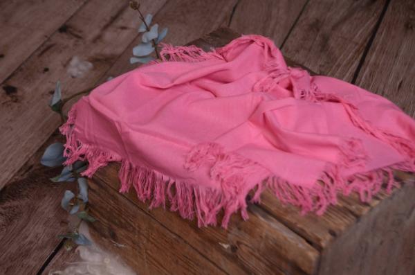 Tissu avec franges rose fuchsia