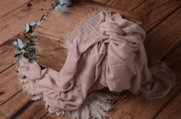 Wrap aus Baumwolle in staubiges Rosa