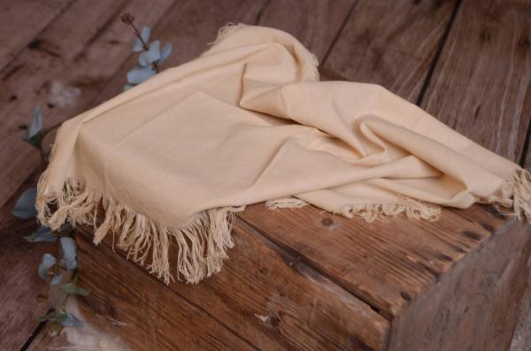 Tissu avec franges beige
