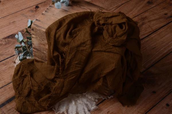 Wrap de algodón marrón oscuro