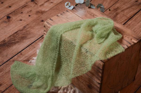 Wrap en mohair vert clair