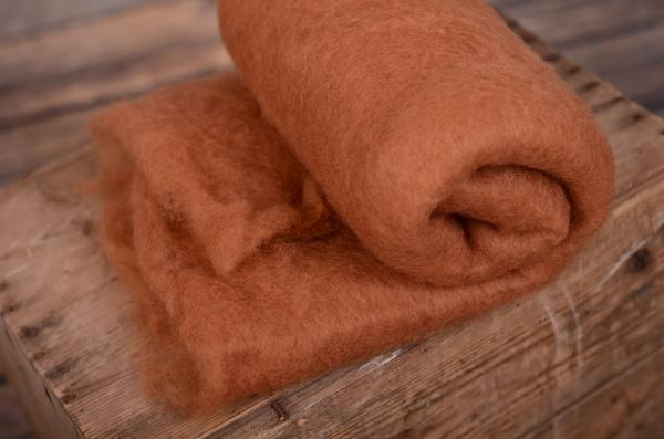 Light brown natural wool blanket