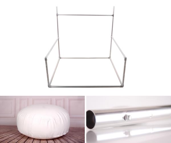 Pack struttura regolabile e bean puff 100 cm