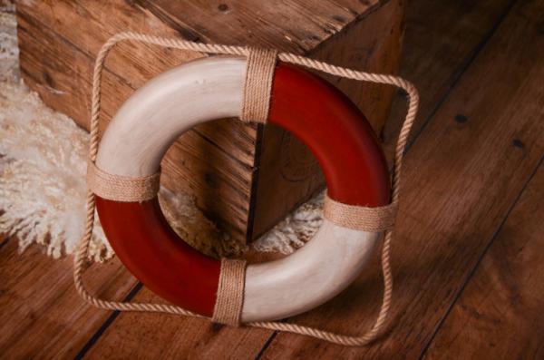 Salvavidas vintage rojo 30 cm