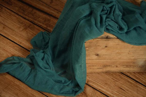 Wrap di mussolina verde bluastro