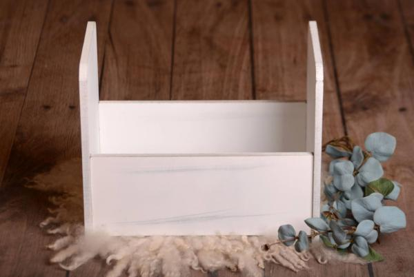Cuna rústica lisa blanco 40 cm
