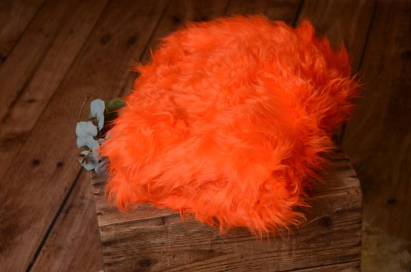 Coperta pelo lungo arancione