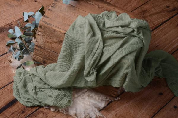 Wrap de algodón verde oliva