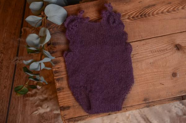 Purple mohair bodysuit