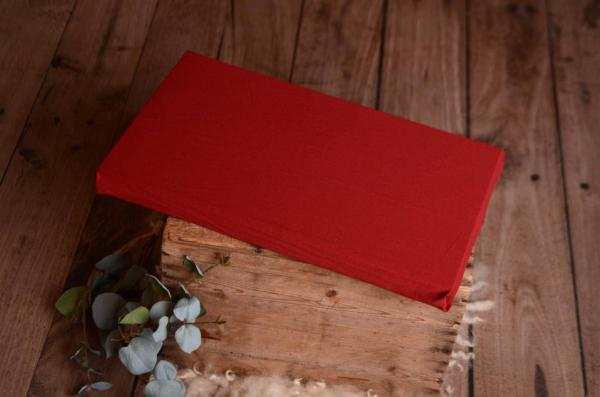 Mattress with wine red cover