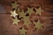 Estrellas decorativas dorado 6 cm