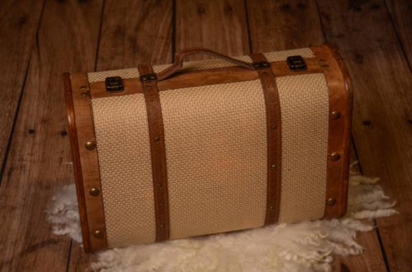 Valise rustique beige 45 cm