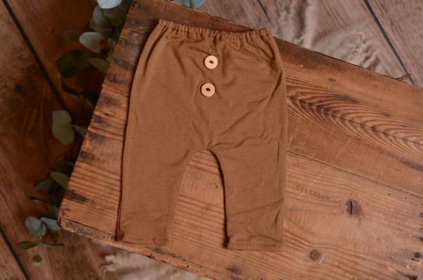 Pantalon maille marron clair