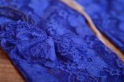 Blue pants and headband lace set
