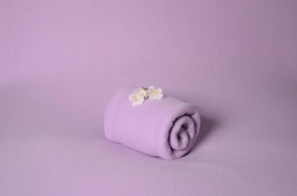 Tissu polaire lilas