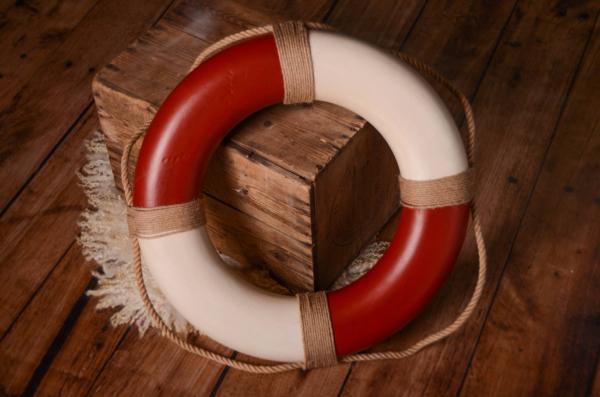 Vintage red life preserver 50 cm
