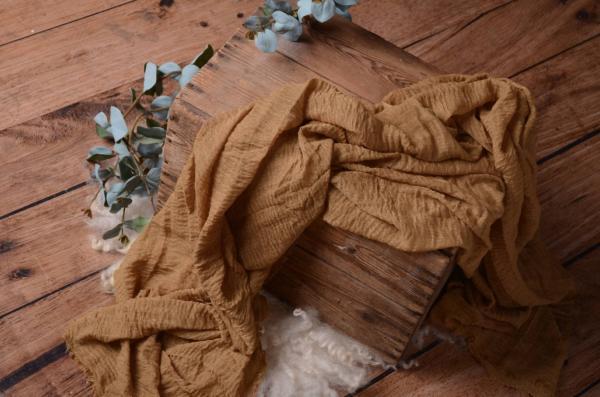 Wrap de algodón camel
