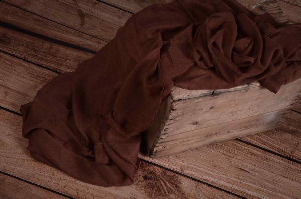 Wrap di mussolina marrone