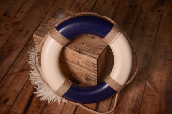 Salvavidas vintage azul 50 cm