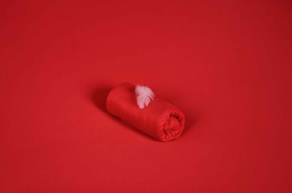 Tela di maglia rosso
