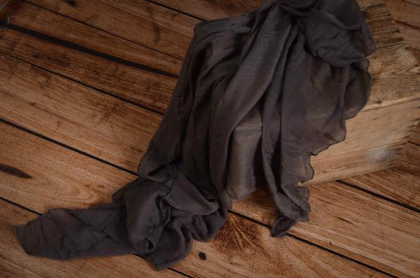 Wrap di mussolina grigio scuro