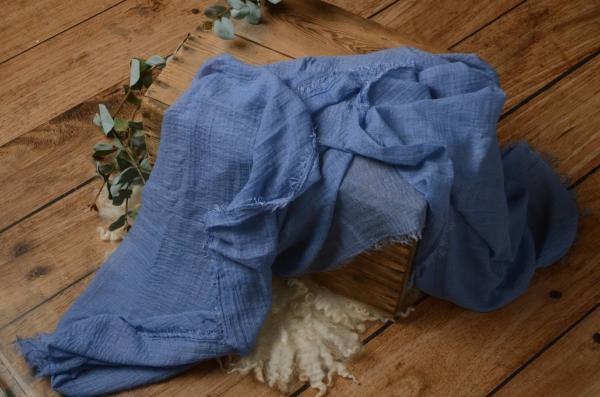 Wrap de algodón azul claro