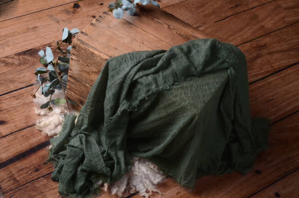 Wrap aus Baumwolle in Bleigrau